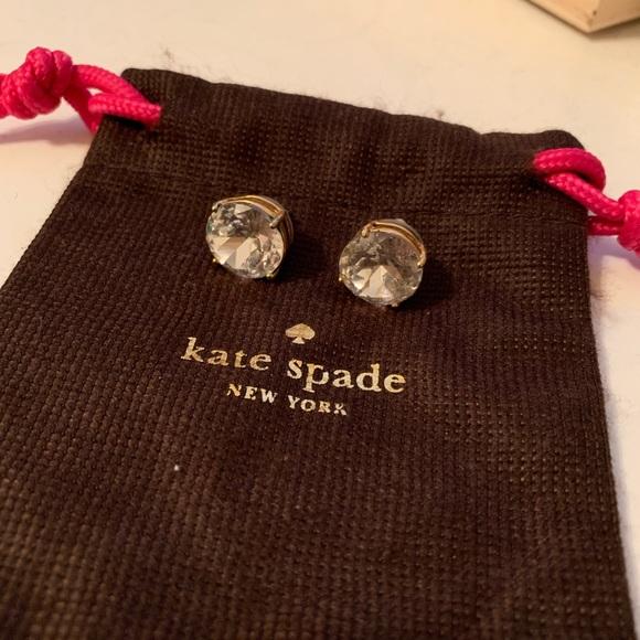 Kate Spade - round diamond earrings